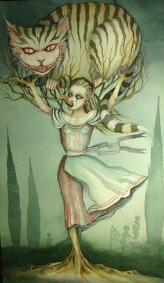 by Dominic Murphy Adventures In Wonderland, Alice In Wonderland, Cheshire Cat Art, Go Ask Alice, Were All Mad Here, English Artists, Lowbrow Art, Pop Surrealism, Through The Looking Glass