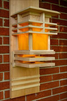 Porch Lantern in 2020 Porch Lanterns, Wooden Lanterns, Wooden Lamp, Diy Wood Projects, Wood Crafts, Woodworking Projects, Woodworking Plans, Woodworking Videos, Craftsman Lighting