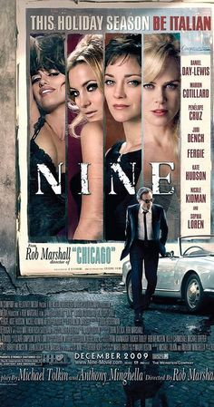 Directed by Rob Marshall.  With Daniel Day-Lewis, Marion Cotillard, Penélope Cruz, Sandro Dori. Famous film director Guido Contini struggles to find harmony in his professional and personal lives, as he engages in dramatic relationships with his wife, his mistress, his muse, his agent, and his mother.