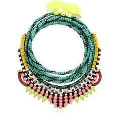 AKONG LONDON Maasai Jungle Necklace (€785) ❤ liked on Polyvore featuring jewelry, necklaces, tassel jewelry, akong london, beaded tassel necklace, swarovski crystal beads necklace and tassle necklace