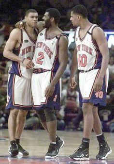 Larry Johnson, Allan Houston, and Kurt Thomas. Knicks 1999.