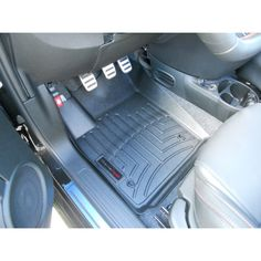 FIAT 500 Floor Liners (Front) - DigitalFit by WeatherTech (Grey)  This item is available at www.500MADNESS.com