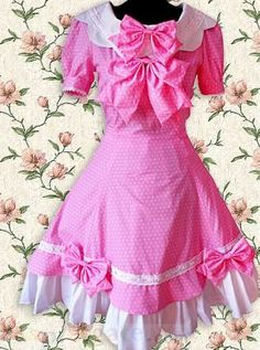 Fuchsia Red Short Sleeves Lolita Dress Pink Free Shipping - wholesale Lolita Dresses - wholesale Lolita Clothing - CosplayGate.com