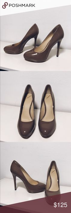 Brian Atwood Pumps Taupe Brian Atwood Pumps.  Great condition other than a faint color transfer from improper storage during a trip, pictured. Brian Atwood Shoes