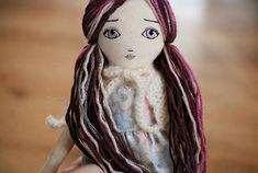 Handmade cloth doll OOAK doll fabric doll Hanolky cloth