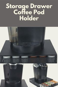 Just saw this New Coffee Machine Design that come with Storage Drawer Coffee Pod Holder, interesting! K Cup Storage, Coffee Pod Storage, Coffee Pod Holder, Pod Coffee Makers, Coffee Pods, V60 Coffee, Storage Drawers, Coffee Machine Design, Drawer Organisers