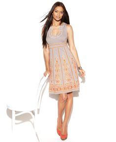 INC International Concepts Dress, Sleeveless Embroidered Beaded Empire Waist - Womens Dresses - Macy's