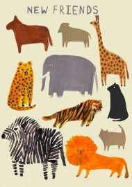 Laura Gee - ZOO animal A4 Print | Posters | Buiten de Lijntjes