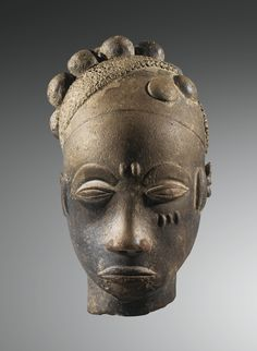 AKAN, 18th Century Terracotta Head, Twifo-Heman Region, GHANA
