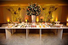 decoração de casamento laranja - Pesquisa Google