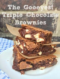 Easy Gooey Triple Chocolate Brownies - if you need someone to fall in love with you, just make these!