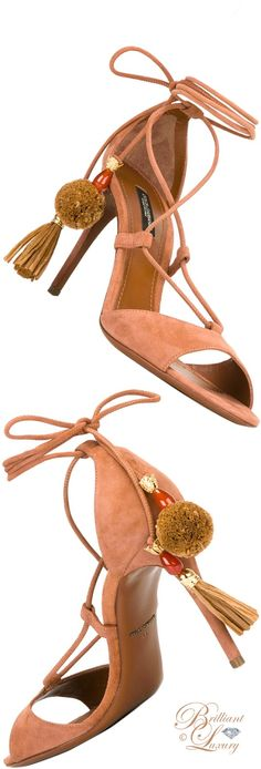 Brilliant Luxury by Emmy DE ♦ Dolce & Gabbana Pom Pom Tassel Sandals