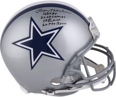 79b6fca5f18 Roger Staubach Dallas Cowboys Autographed Riddell Authentic Pro-Line Helmet  with Multiple Inscriptions - Limited Edition of 12 - Authentic Signed