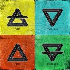4 elements by Narcissus-art Element Tattoo, Four Elements Tattoo, Elements Of Art, Alchemy Elements, Classical Elements, Magia Elemental, Elemental Magic, Mother Nature Tattoos, Element Symbols