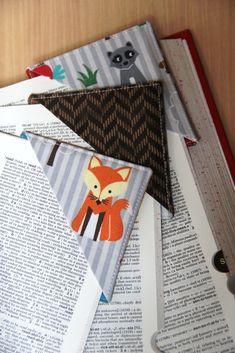 Quick Fabric Corner Bookmarks - Crafty Staci #easydiygift #giftsforreaders