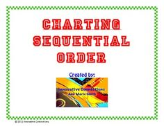 Sequential Order Chart: simple and effective reading strategy for your students