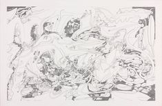 Shuvinai Ashoona, All Kinds of Spiders in Different Views, 2011, Fineliner pen over graphite on wove paper, overall: 83 x 125 cm; image: 72.7 x 114.5 cm, National Gallery of Canada, Ottawa. #ArtCanInstitute #CanadianArt Fineliner Pens, Canadian Art, Detailed Drawings, Surrealism, Book Art, Studio, Gallery, Artist, Prints