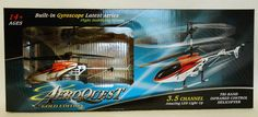 TRI-BAND INFRARED REMOTE CONTROL RC HELICOPTER AEROQUEST GOLD EDITION RED NEW #Aeroquest