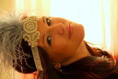 Silver flapper headband 1920s headband Gatsby headpiece