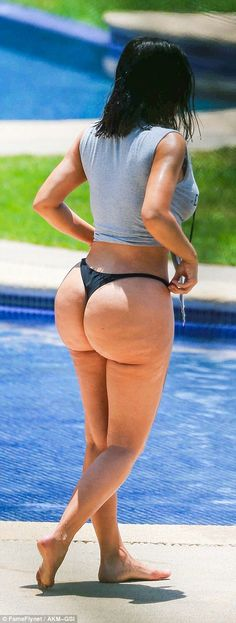 Bums and tums: Kim's recent efforts in getting into shape have certainly done the trick...