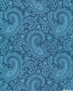eQuilter Chambray Rose - Unfolding Paisleys - Slate Blue Chambray Rose by Rachel Ashwell for Treasures by Shabby Chic (Timeless Treasures) Paisley Art, Paisley Fabric, Paisley Design, Paisley Pattern, Pattern Art, Pattern Design, Textile Design, Fabric Design, Fabric Patterns