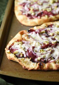 Make a Hot Pastrami Flatbread using this easy recipe.