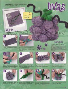 Gajo de uvas con toalla y mables