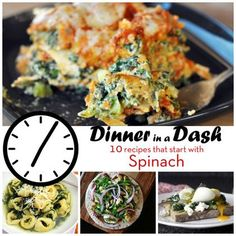 Dinner in a Dash: 10 Recipes that Start with Spinach....******.the Mushroom and Rice casserole sounds GREAT!!!!!!!!!