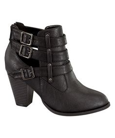 This Black Cutout Camila Bootie is perfect! #zulilyfinds