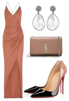 """""""Untitled #1386"""" by rosechicgeorgia ❤ liked on Polyvore featuring Balmain, Christian Louboutin and Yves Saint Laurent"""