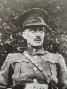 """2nd Lt. Edward Thomas Royal Garrison Artillery, Dec. 1916 before leaving for the Front. Thomas enlisted in The Artists Rifles in July 1915, despite being a mature married man who could have avoided enlisting, in part after reading Frost's """"The Road Not Taken"""". He was promoted corporal, and in November 1916 was commissioned into the Royal Garrison Artillery. He is best known as one of the 'war poets'."""