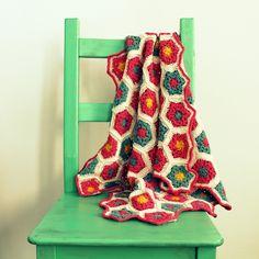 Ahuyama Crochet: Colcha de Hexágonos a Crochet - PASO A PASO #videotutorial por @ahuyamacrochet