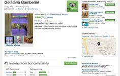 Gelateria Gamberini - Tripadvisor responses management September 2012/ August 2013