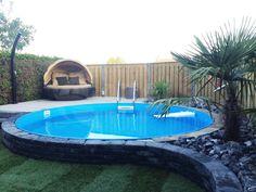 Trendpool Ibiza 500 x 120 cm, liner mm kopen bij Azalp. Backyard Pool Landscaping, Small Backyard Pools, Small Pools, Swimming Pools Backyard, Best Above Ground Pool, In Ground Pools, Small Backyard Design, Backyard Patio Designs, Homemade Swimming Pools