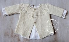 Der Neuen Ravelry: 29 / Princess Charlotte Baby Jacket pattern by Florence Merlin Baby Knitting Patterns, Baby Cardigan Knitting Pattern, Baby Clothes Patterns, Knitting For Kids, Baby Patterns, Knitted Baby Cardigan, Charlotte Baby, Knit Baby Sweaters, Knitted Baby Clothes