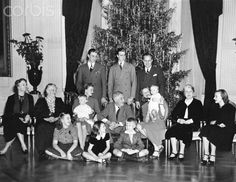 FDR with His Family at Christmas in the White House Original caption: Picture shows US President, Franklin Delano Roosevelt (1882-1945), with his family at Christmas in the White House.Date December 25, 1939.❤❤❤ ❤❤❤❤❤❤❤  http://en.wikipedia.org/wiki/Franklin_D._Roosevelt  http://www.whitehouse.gov/about/presidents/franklindroosevelt    http://millercenter.org/scripps/archive/presidentialrecordings/roosevelt  http://www.fdrlibrary.marist.edu/aboutfdr/biographiesandmore.html