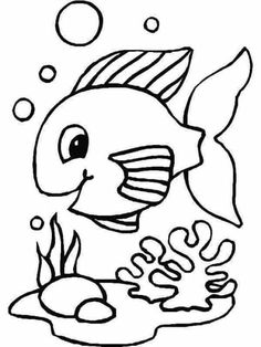 Smiling Fish Color Page Animal Coloring Pages For Kids Thousands Of Free Printable