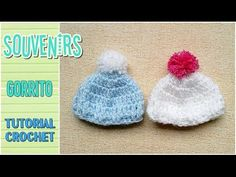 Souvenir a crochet para baby shower MINI GORRITO, paso a paso - YouTube