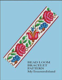 Bead Loom Vintage Floral Border 9 Bracelet Pattern PDF