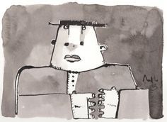 CURIA No. 3  Ink Drawing on Paper by mellonfineart on Etsy, $50.00