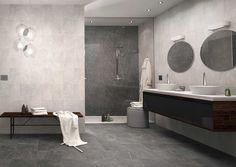 Alejandria Gris 13x13 (wall tile) #HDC Bathtub Surround, Style Tile, Porcelain Tile, Bathroom Inspiration, Wall Tiles, Shower, Beige, Board, Houses