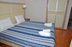 luxury bed, santos apartment no 35 Corfu Apartments, Luxury Apartments, Luxury Homes, Holiday Apartments, Luxury Holidays, Holiday Time, Luxury Bedding, Vacation, Furniture
