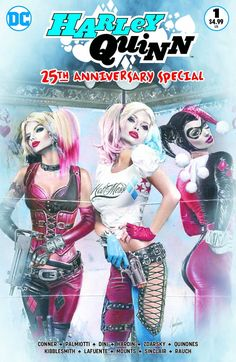 HARLEY QUINN 25th ANNIVERSARY #1 CMS Exclusive by Natali Sanders Colour Variant