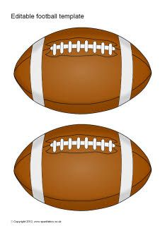 Editable American football template