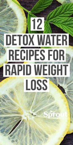 12 Detox Water Recipes for Rapid Weight Loss - Fat Burning Diet - Despite its many healthy effects, water can be boring. Fix that with these 12 detox water recipes - Weight Loss Meals, Weight Loss Diet Plan, Weight Loss Drinks, Weight Loss Smoothies, Fast Weight Loss, Weight Loss Program, Healthy Weight Loss, How To Lose Weight Fast, Lose Fat