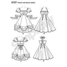 Simplicity Pattern 8127 Misses' Lolita and Rockabilly Dresses                                                                                                                                                                                 More