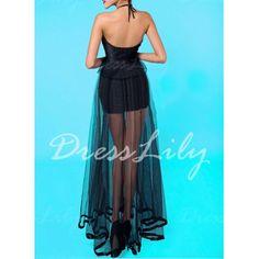 Sexy Halter Sleeveless Beaded Peplum Dress For Women