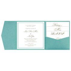 Tiffany Blue Pocketfold Invitation Sample by DetailsBeyondDesign