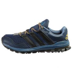 Adidas Slingshot Tr Mens AF6586 Navy Black Gold Trail Running Shoes Size 10