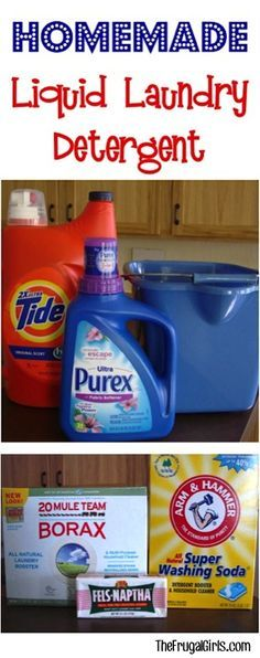 Homemade Laundry Detergent Recipe! ~ at TheFrugalGirls.com ~ my favorite liquid laundry soap recipe... it works great and saves SO much money!!